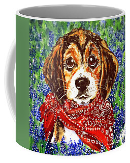 Buddy Dog Beagle Puppy Western Wildflowers Basset Hound  Coffee Mug