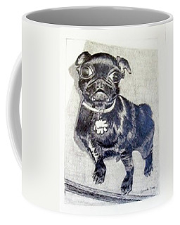 Coffee Mug featuring the drawing Buddy by Jamie Frier