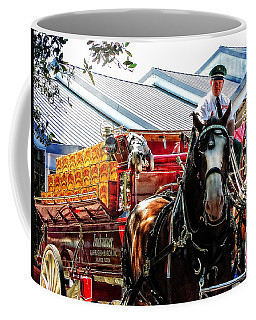 Coffee Mug featuring the photograph Budweiser Beer Wagon by Mike Martin