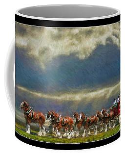 Budweiser Clydesdale Paint 2 Coffee Mug
