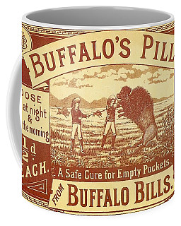 Coffee Mug featuring the photograph Buffalo's Pills Vintage Ad by Gianfranco Weiss