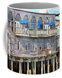 Building On Piles Above Water Coffee Mug by Lorna Maza