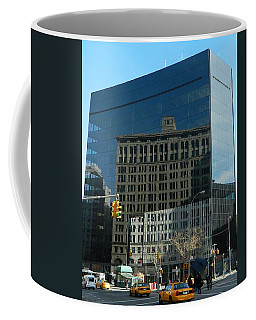 Coffee Mug featuring the photograph Building Reflections Nyc by Emmy Marie Vickers