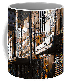 Building With Shimmering Circles Coffee Mug