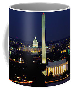Buildings Lit Up At Night, Washington Coffee Mug
