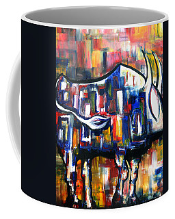 Bull At Sunset Coffee Mug