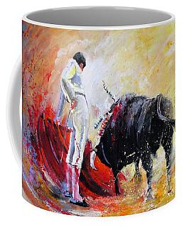 Bull In Yellow Light Coffee Mug