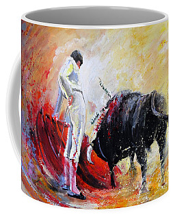 Bull In Yellow Light Coffee Mug