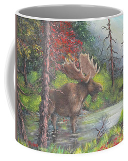Bull Moose Coffee Mug by Megan Walsh