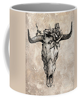 Bull Skull And Rose Coffee Mug