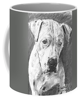 Bull Terrier Sketch In Charcoal  Coffee Mug