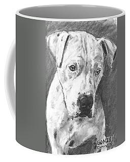 Bull Terrier Sketch In Charcoal  Coffee Mug by Kate Sumners