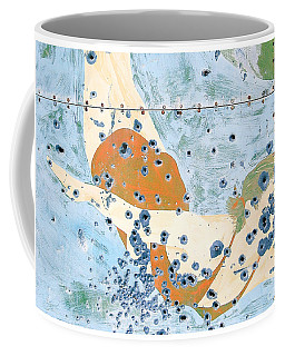 Bullet Ridden Tin Sign Chicos Hot Springs Coffee Mug