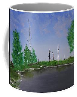 Coffee Mug featuring the painting Bullfrog Reservoir by Jennifer Muller