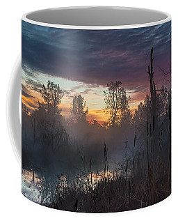 Bulrush Sunrise Full Scene Coffee Mug