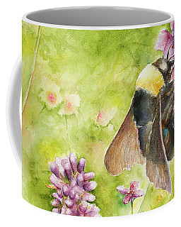 Coffee Mug featuring the painting Bumble by Arthur Fix