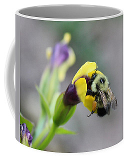 Coffee Mug featuring the photograph Bumble Bee Making A Wish by Penny Meyers
