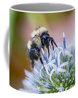 Bumblebee On Thistle Blossom Coffee Mug by Marty Saccone