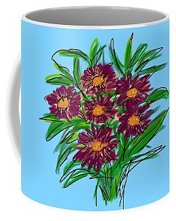 Coffee Mug featuring the digital art Bunch Of Daisies by Christine Fournier