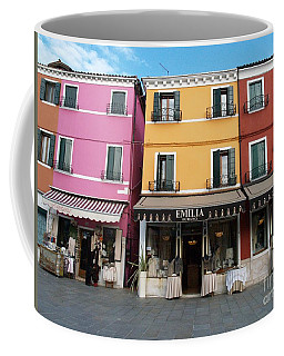 Coffee Mug featuring the painting Burano by Robin Maria Pedrero