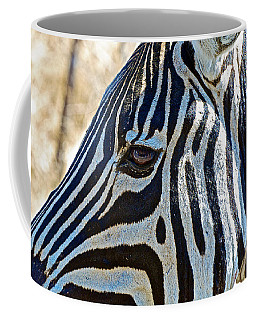Burchell's Zebra's Face In Kruger National Park-south Africa Coffee Mug