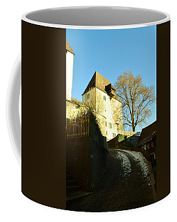 Coffee Mug featuring the photograph Burgdorf Castle In December by Felicia Tica