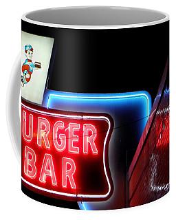 Burger Bar Neon Diner Sign At Night Coffee Mug