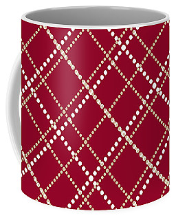 Burgundy Pattern Coffee Mug