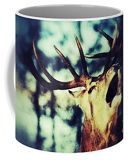Coffee Mug featuring the photograph Burling Deer by Nick  Biemans