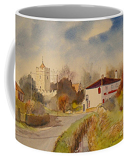 Coffee Mug featuring the painting Burmarsh  Kent Uk by Beatrice Cloake