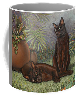 Coffee Mug featuring the painting Burmese Beauty by Cynthia House