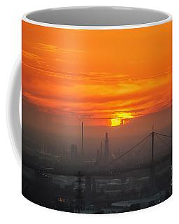 Coffee Mug featuring the photograph Burning Sunset II by Ray Warren