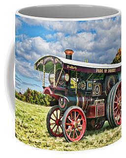 Coffee Mug featuring the digital art Burrell Showmans Engine by Paul Gulliver