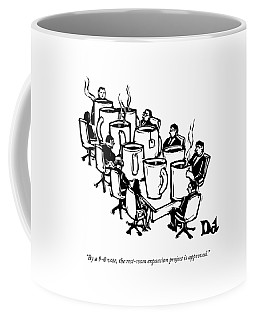 Businessmen Sit Around Conference Table Coffee Mug