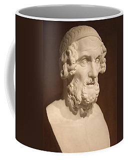 Coffee Mug featuring the photograph Bust Of Homer by Mark Greenberg