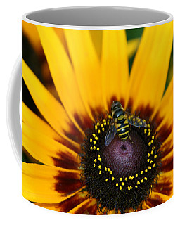 Coffee Mug featuring the photograph Busy Bee by Denyse Duhaime