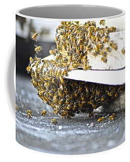 Coffee Mug featuring the painting Busy Bees by Laura Forde