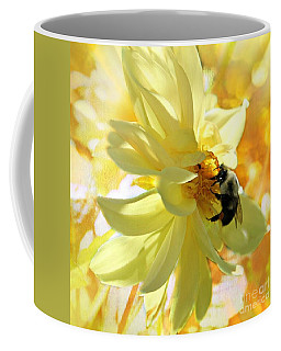 Coffee Mug featuring the photograph Busy Bumble Bee by Judy Palkimas