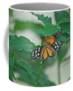 Coffee Mug featuring the photograph Butterflies Gentle Touch by Thomas Woolworth