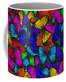 Coffee Mug featuring the photograph Butterflies In Flight Panorama by Kyle Hanson