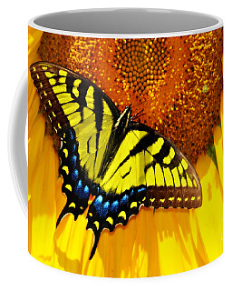 Butterfly And The Sunflower Coffee Mug