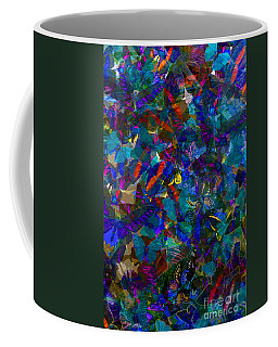 Coffee Mug featuring the photograph Butterfly Collage Blue by Robert Meanor