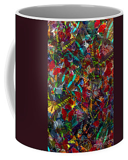 Coffee Mug featuring the photograph Butterfly Collage Red by Robert Meanor