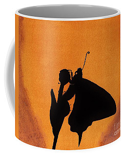 Coffee Mug featuring the drawing Butterfly by D Hackett