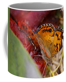 Coffee Mug featuring the photograph Butterfly by Erika Weber