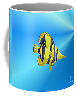 Butterfly Fish Coffee Mug by Chris Thomas