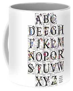 Butterfly Flower Alphabet Coffee Mug by Stanza Widen
