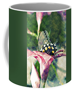 Butterfly In Flower Coffee Mug