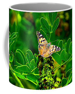 Coffee Mug featuring the photograph Butterfly In Paradise by Gunter Nezhoda