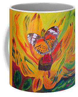 Butterfly Jungle Coffee Mug by Meryl Goudey